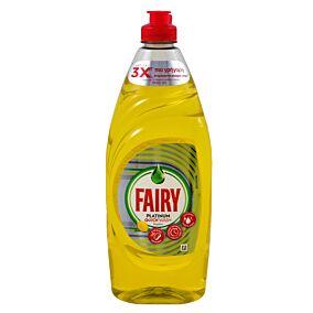 Απορρυπαντικό πιάτων FAIRY Platinum quickwash λεμόνι (654ml)