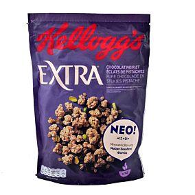 Δημητριακά KELLOGGS Extra μαύρη σοκολάτα και φυστίκια (450g)