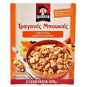 Δημητριακά QUAKER τραγανές μπουκιές βρώμης με φρούτα (450g)