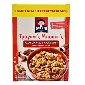 Δημητριακά QUAKER τραγανές μπουκιές βρώμης με σοκολάτα γάλακτος (450g)