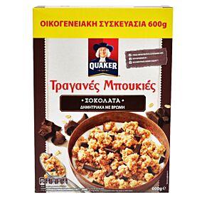 Δημητριακά QUAKER τραγανές μπουκιές βρώμης με σοκολάτα υγείας (450g)