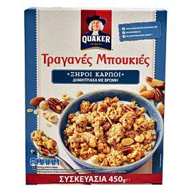 Δημητριακά QUAKER τραγανές μπουκιές βρώμης με ξηρούς καρπούς (450g)