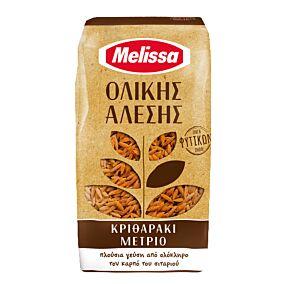 Πάστα ζυμαρικών MELISSA κριθαράκι μέτριο ολικής (500g)