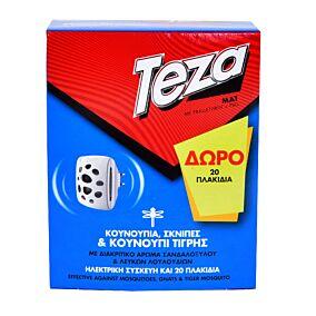 Εντομοαπωθητικό TEZA, σετ συσκευή και ΔΩΡΟ 20 ταμπλέτες