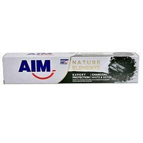 Οδοντόκρεμα AIM Nature elements charcoal (75ml)