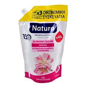Κρεμοσάπουνο NATURA almond, ανταλλακτικό (750ml)