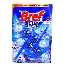 Αποσμητικό τουαλέτας BREF Blue active hygiene duo (2τεμ.)
