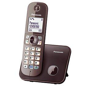 Ασύρματο τηλέφωνο PANASONIC καφέ