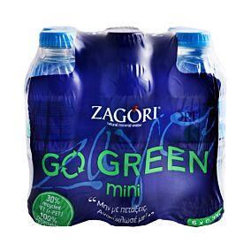 Φυσικό νερό ΖΑΓΟΡΙ Green μεταλλικό (6x330ml)