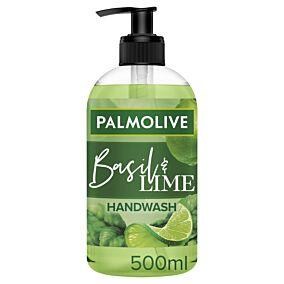 Κρεμοσάπουνο PALMOLIVE βασιλικός και λάιμ με αντλία (500ml)