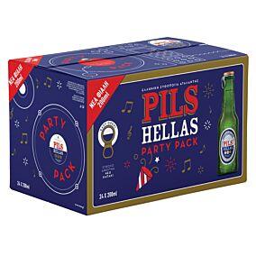 Μπύρα PILS HELLAS Party φιάλη (24x200ml)