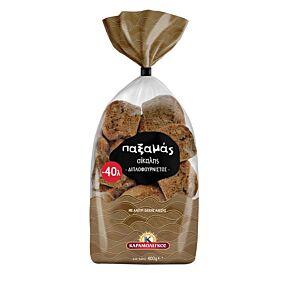 Παξιμάδια ΚΑΡΑΜΟΛΕΓΚΟΣ παξαμάς διπλοφουρνιστό σίκαλης -0,40€ (400g)
