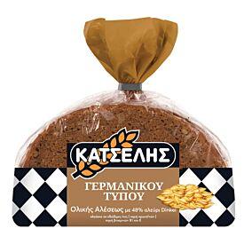 Ψωμί ΚΑΤΣΕΛΗΣ γερμανικού τύπου ολικής άλεσης dinkel (400g)
