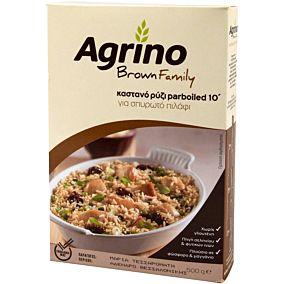 Ρύζι AGRINO brown family για σπυρωτό πιλάφι 10' (500g)