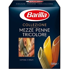 Πάστα ζυμαρικών BARILLA πέννες τρικολόρε (500g)