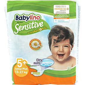 Πάνες BABYLINO Sensitive No.5+, 13-27kg (16τεμ.)