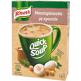 Σούπα σε σκόνη KNORR Quick Snack μανιταρόσουπα (36g)