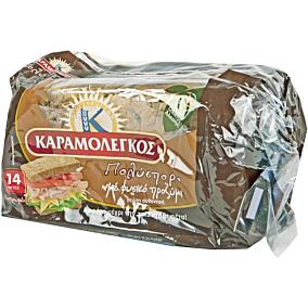 Ψωμί ΚΑΡΑΜΟΛΕΓΚΟΣ τοστ πολύσπορο σίτου mini (340g)