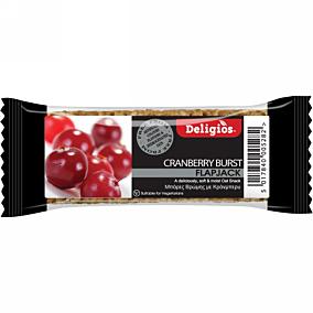 Μπάρα δημητριακών DELIGIOS Flap Jack cranberry (80g)