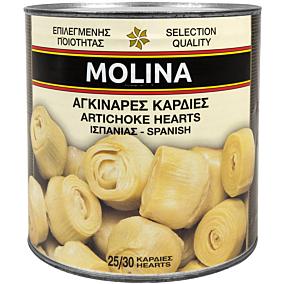 Κονσέρβα MOLINA αγκινάρες καρδιές (2,5kg)