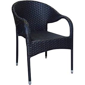 Καρέκλα RESORT LINE μέταλλο rattan μαύρη