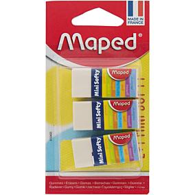 Γόμα MAPED mini softy λευκή (3τεμ.)