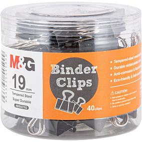 Πιάστρες M&G μαύρες 19mm (40τεμ.)