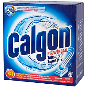 Αποσκληρυντικό νερού CALGON express ball, σε ταμπλέτες (75τεμ.)