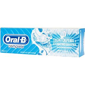 Οδοντόκρεμα ORAL B complete mouthwash & whitening (75ml)