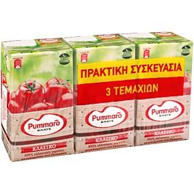 Χυμός τομάτας PUMMARO ελαφρά συμπυκνωμένος (3x250g)