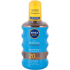 Αντηλιακό λάδι NIVEA protect & bronze SPF 20 σε σπρέι (200ml)