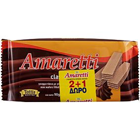 Γκοφρέτα AMARETTI με κρέμα κακάο 2+1ΔΩΡΟ (3x90g)