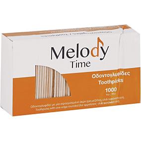Οδοντογλυφίδες MELODY TIME με κεφαλάκι (1000τεμ.)