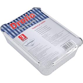 Σκεύη DROLIO ΓΙΑ ΕΠΑΓΓΕΛΜΑΤΙΕΣ αλουμινίου με καπάκια D19 (3τεμ.)