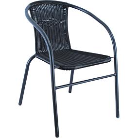Καρέκλα MIMOSA GARDEN μεταλλική rattan με μαύρο σκελετό