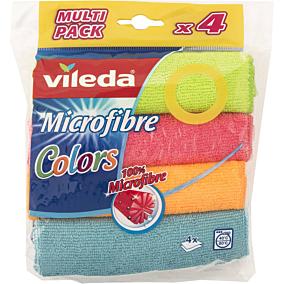 Πετσέτα VILEDA colori μικροϊνών (4τεμ.)