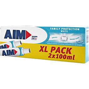 Οδοντόκρεμα AIM family protect whitening (100ml)