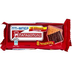 Μπισκότα ΠΑΠΑΔΟΠΟΥΛΟΥ ΠΤΙ ΜΠΕΡ με σοκολάτα γάλακτος (89g)