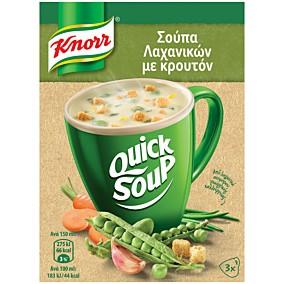 Σούπα σε σκόνη KNORR Quick Snack λαχανικών με κρουτόν (42g)