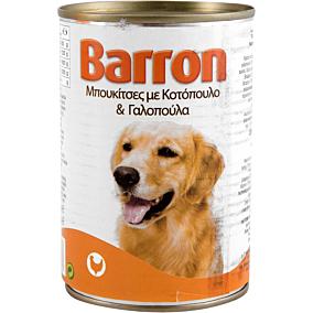 Τροφή BARRON σκύλου με κοτόπουλο και γαλοπούλα (400g)