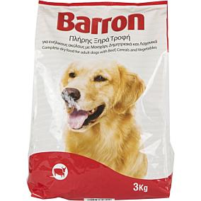 Ξηρά τροφή BARRON σκύλου με μοσχάρι, δημητριακά και λαχανικά (3kg)
