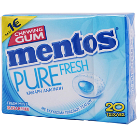 Τσίχλες MENTOS Pure Fresh Fresh Mint slim box (28g)