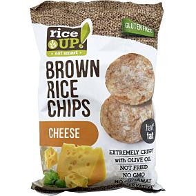 Ρυζογκοφρέτα RICE UP Brown Rice Chips ολικής άλεσης με τυρί (60g)