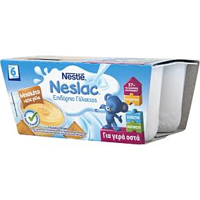Παιδική τροφή NESTLE Neslac επιδόρπια γάλακτος μπισκότο (4τεμ.)