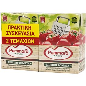 Χυμός τομάτας PUMMARO στον τρίφτη ελαφρώς συμπυκνωμένη (2x370g)