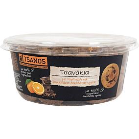 Κουλούρια TSANOS τσανάκια με πορτοκάλι και σοκολάτα υγείας (300g)