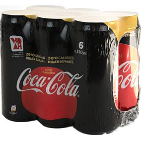 Αναψυκτικό COCA COLA zero χωρίς καφεΐνη (6x330ml)
