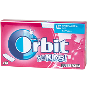 Τσίχλες ORBIT For Kids Bubblegum (35g)