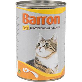 Τροφή BARRON γάτας πατέ κοτόπουλου και λαχανικών (400g)