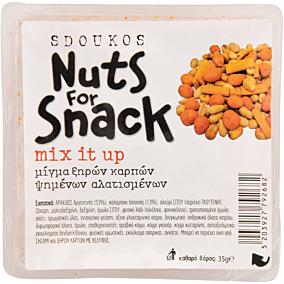 Ξηροί καρποί SDOUKOS Nuts For Snack ανάμεικτοι mix it up (35g)